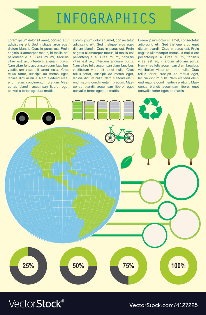 Infochart showing the planet earth vector | Price: 1 Credit (USD $1)