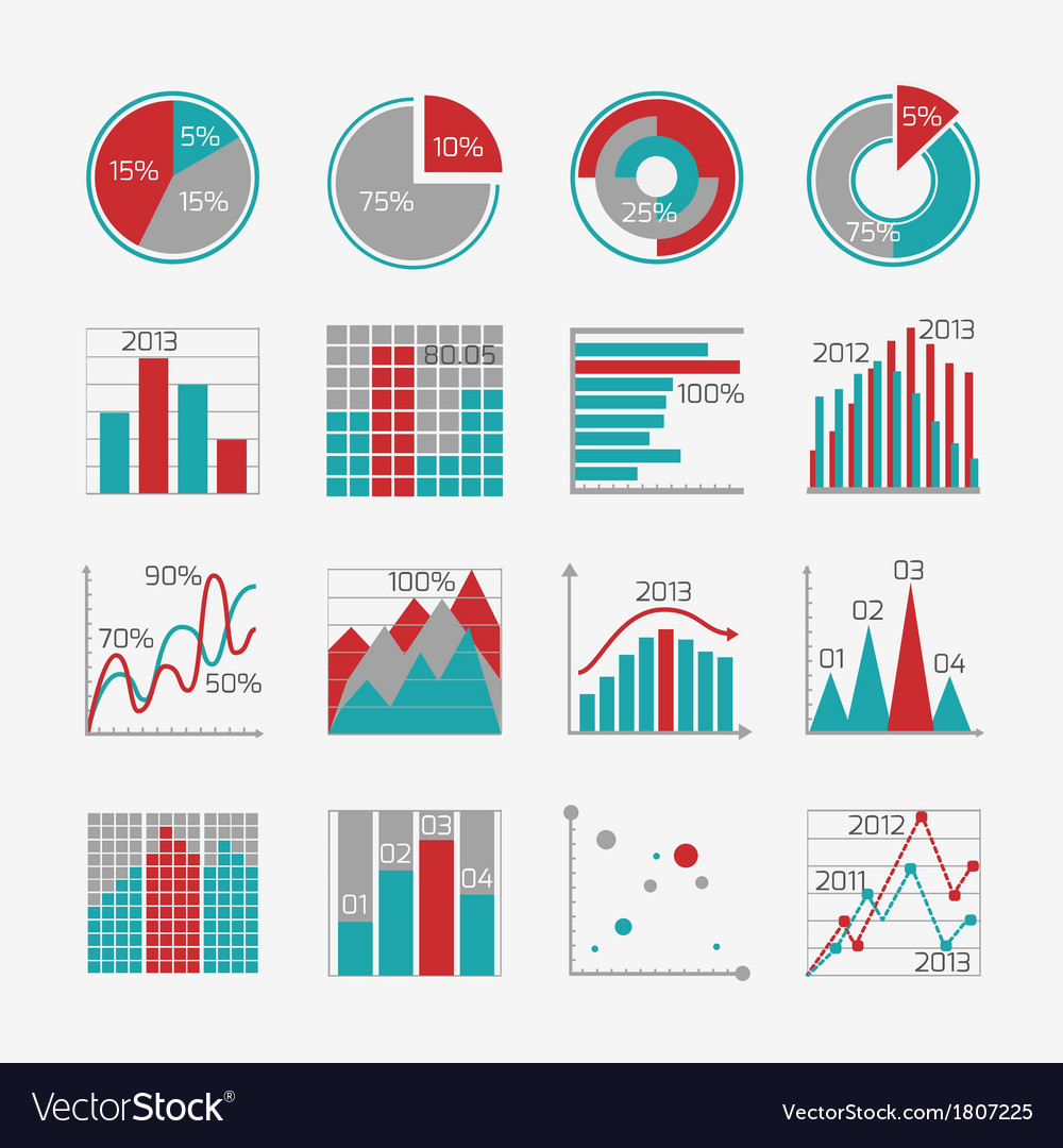 Infographic elements for business report vector | Price: 1 Credit (USD $1)