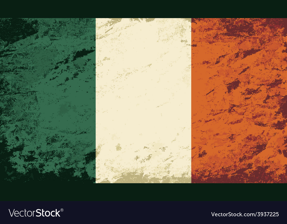 Irish flag grunge background vector   Price: 1 Credit (USD $1)