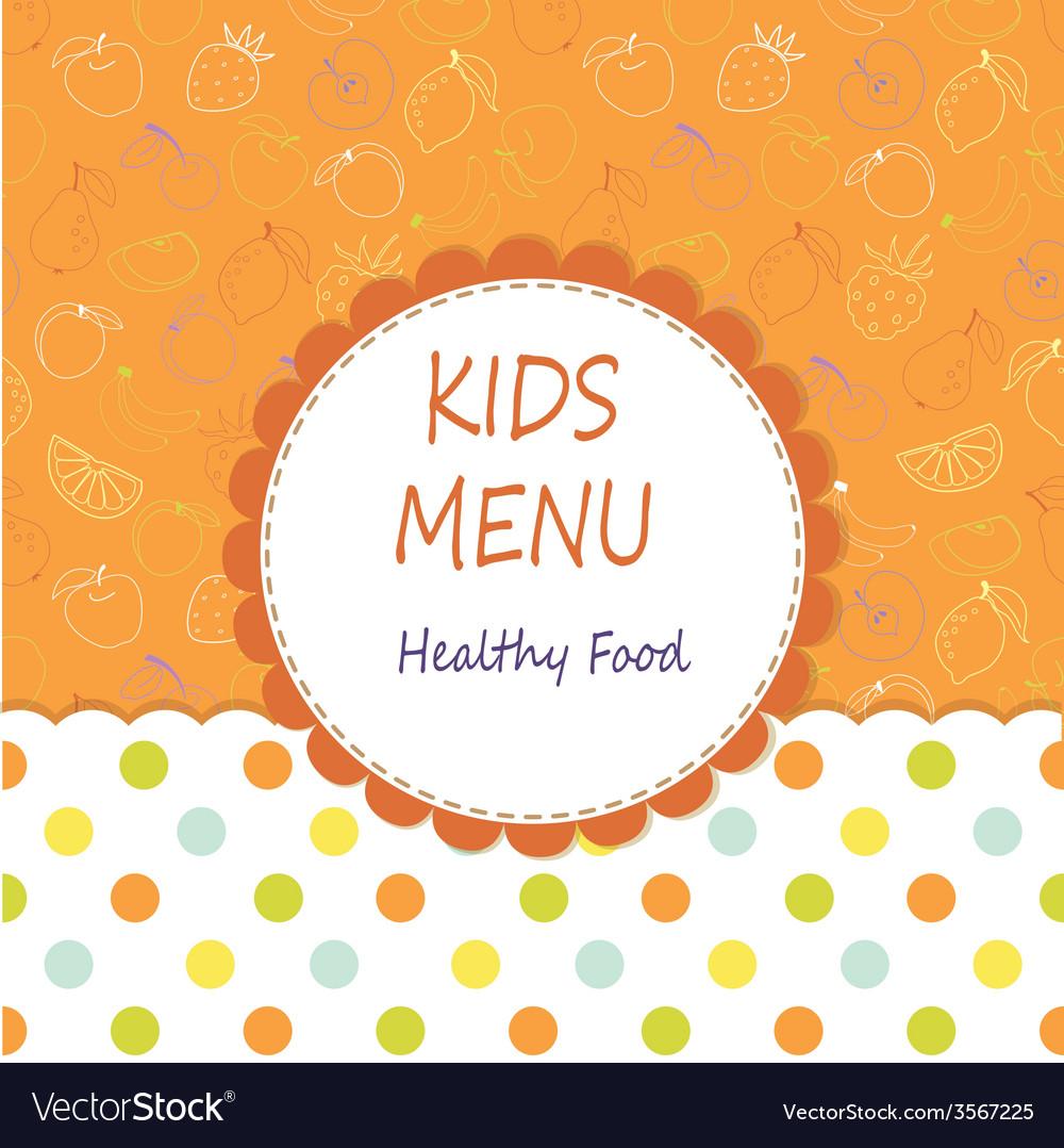 Kid menu vector | Price: 1 Credit (USD $1)