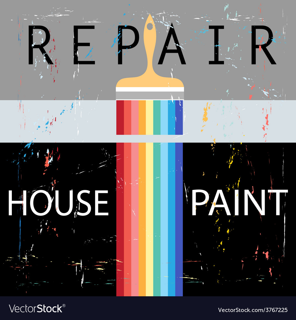 Repair with paint brush vector | Price: 1 Credit (USD $1)