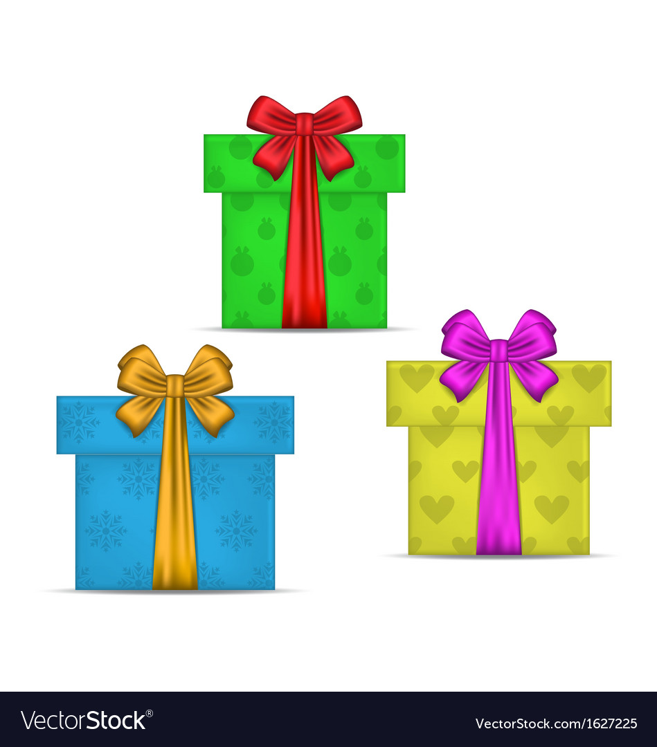 Set gift boxes isolated vector | Price: 1 Credit (USD $1)