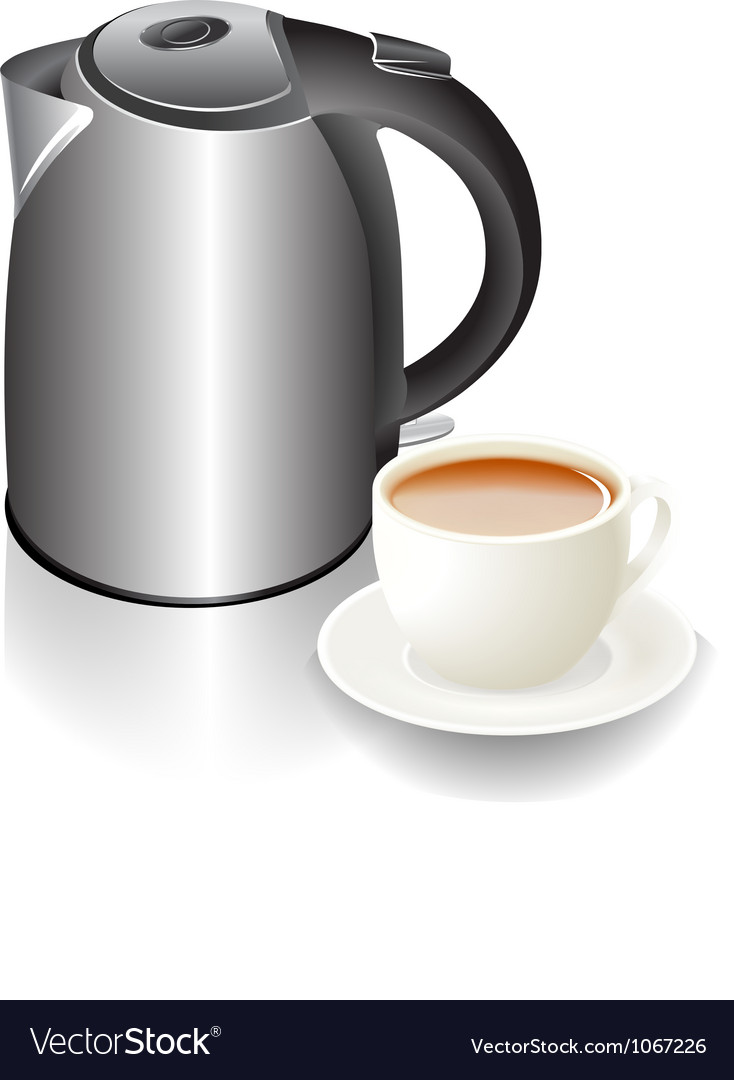 Cup and teapot vector   Price: 1 Credit (USD $1)