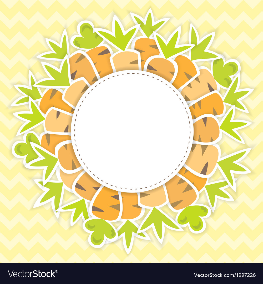 Easter carrots pattern on a yellow vector | Price: 1 Credit (USD $1)