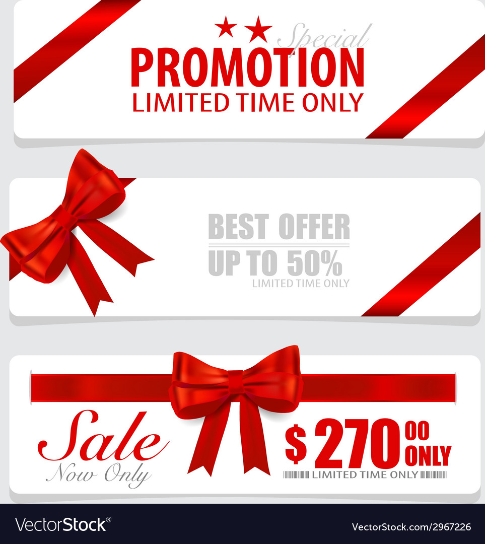 End of year sale savings labels set price tag sale vector | Price: 1 Credit (USD $1)