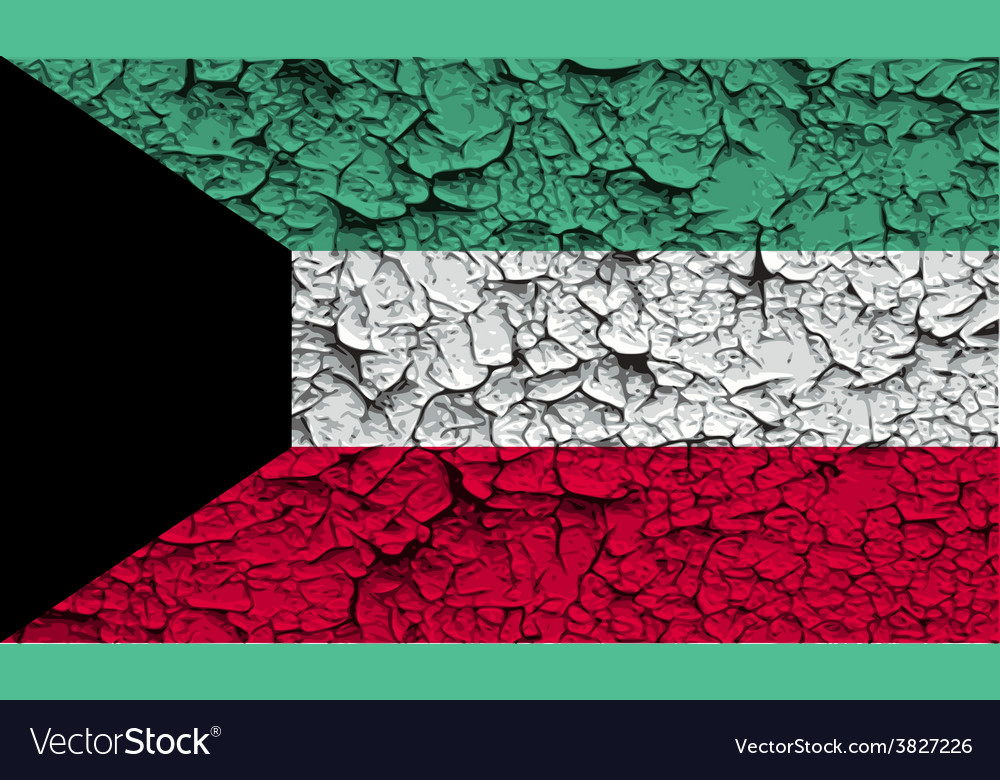 Flag of kuwait with old texture vector   Price: 1 Credit (USD $1)