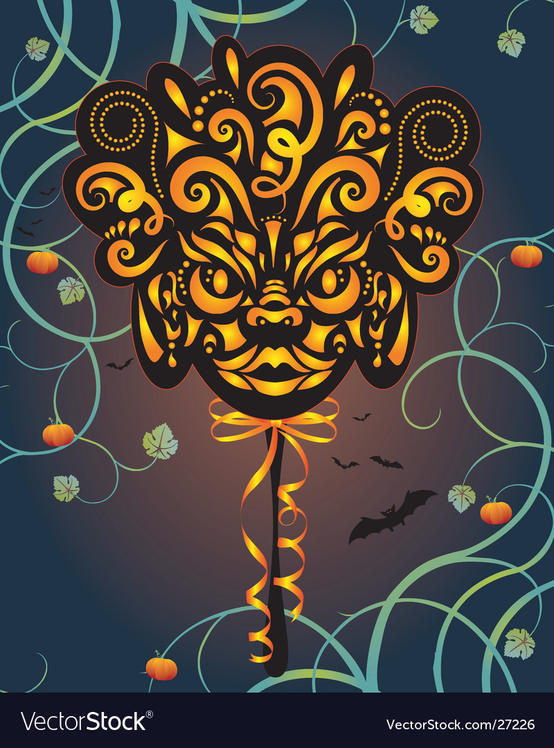 Halloween masque vector | Price: 1 Credit (USD $1)