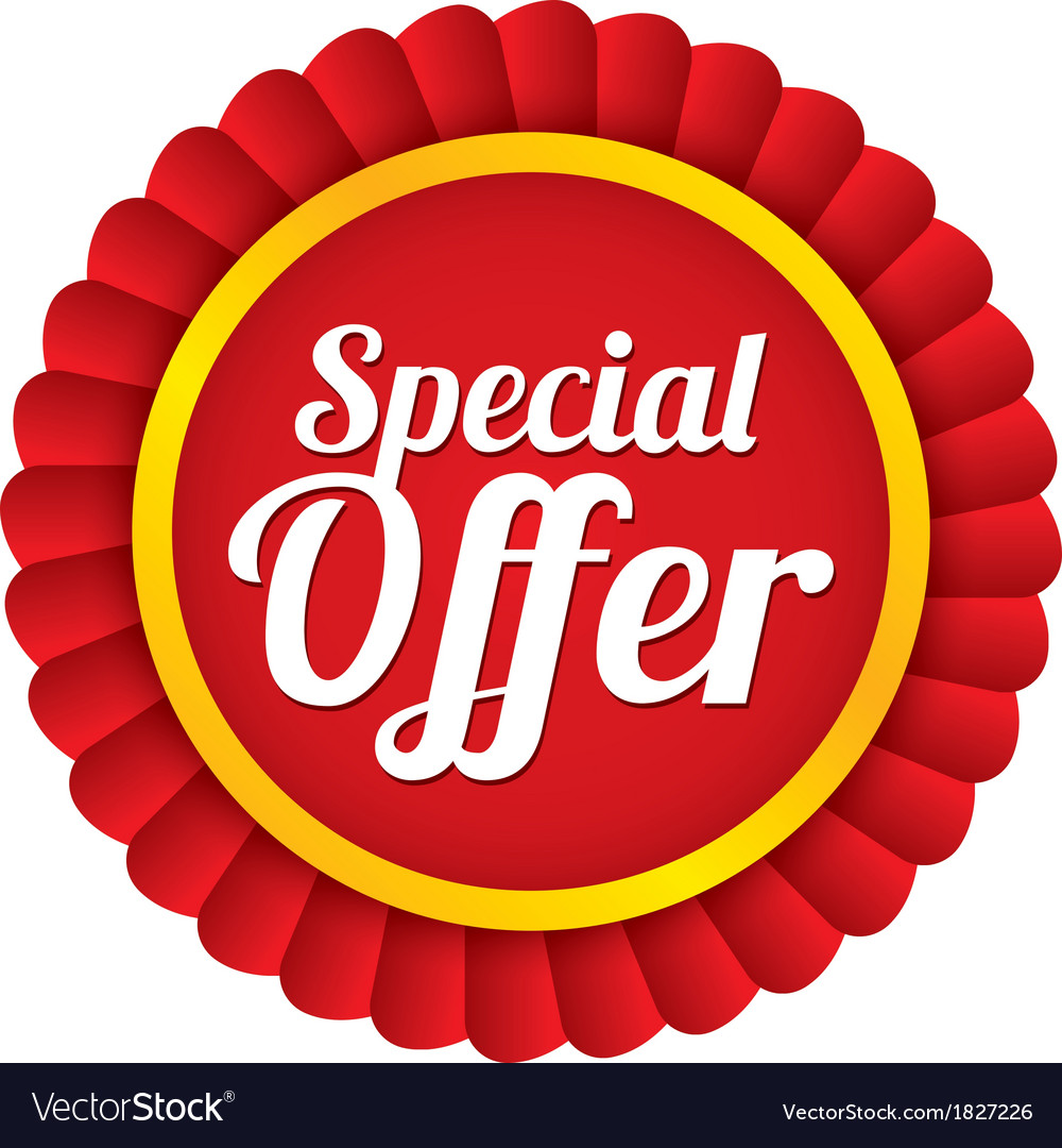 Special offer label red sale sticker price tag vector | Price: 1 Credit (USD $1)