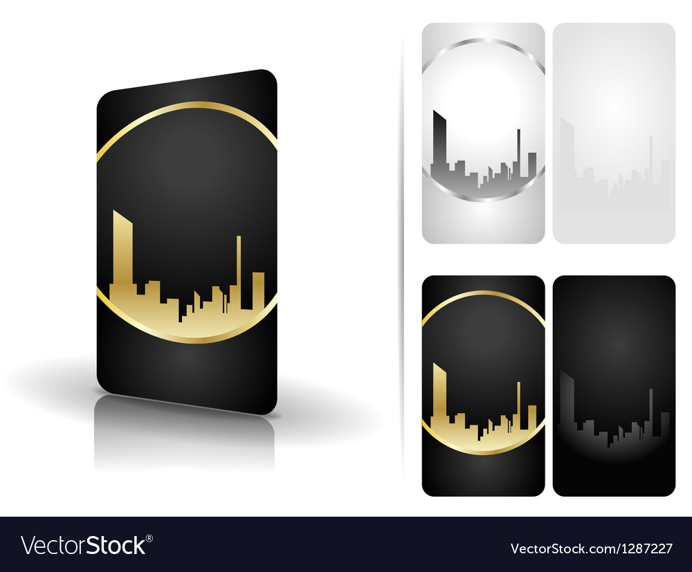 Black and white business cards vector | Price: 1 Credit (USD $1)
