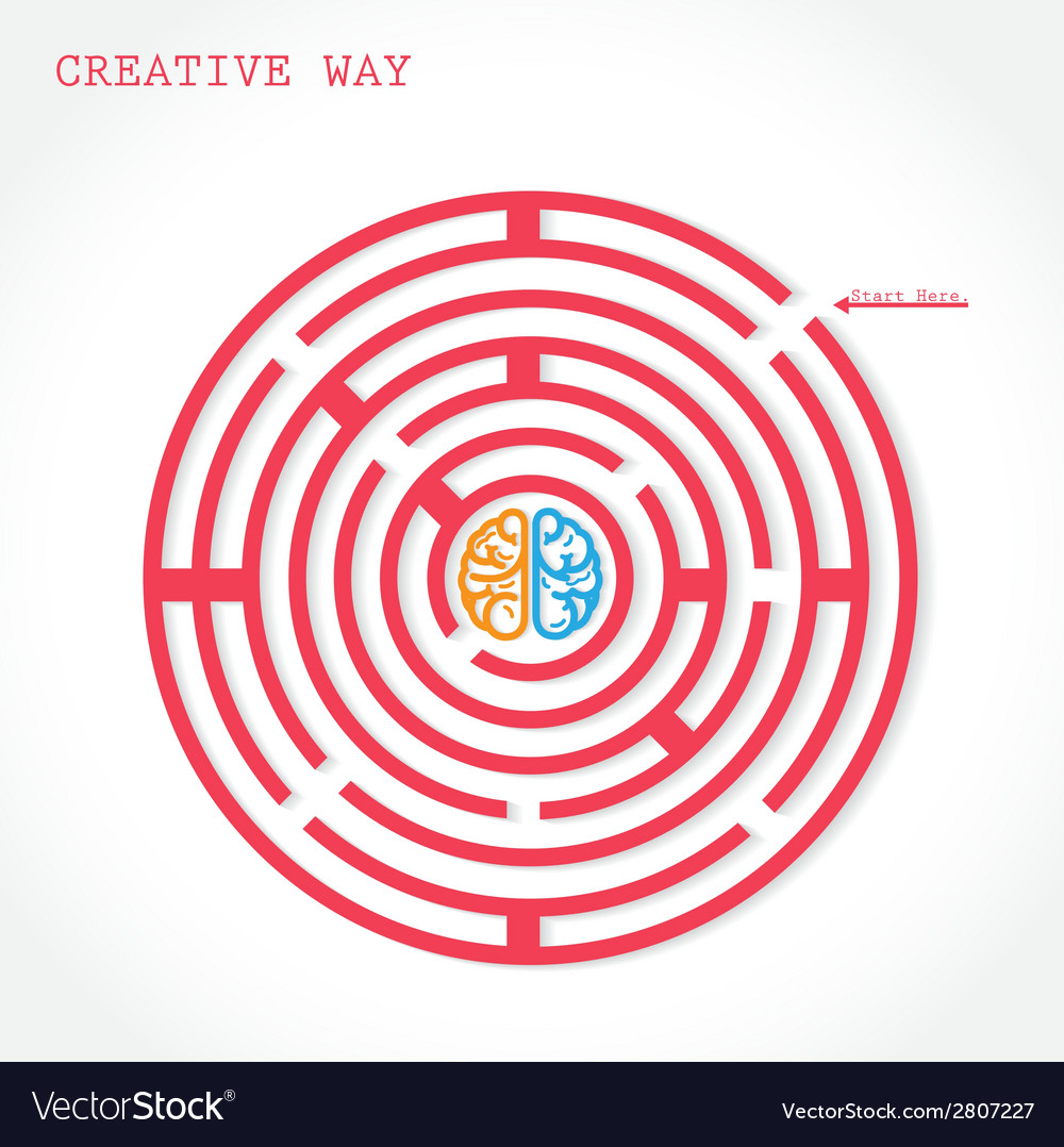 Creative circle maze way concept vector | Price: 1 Credit (USD $1)