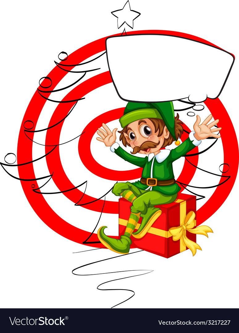 Elf and christmas vector | Price: 1 Credit (USD $1)