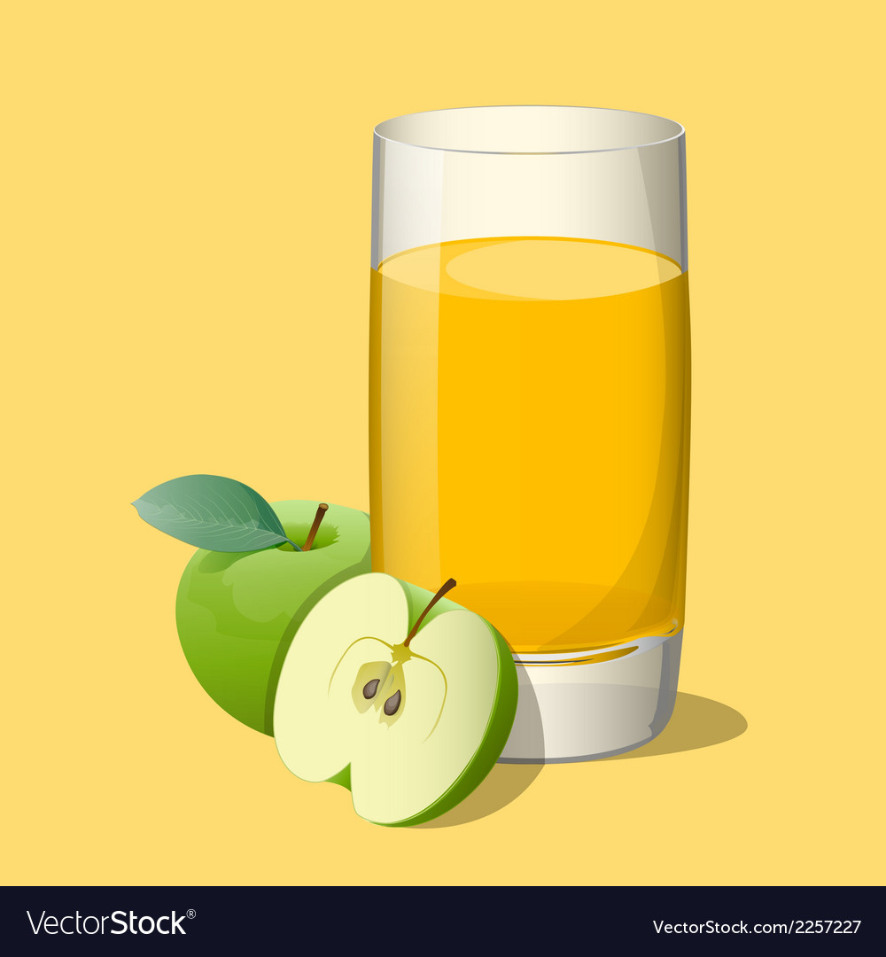Full glass of apple vector | Price: 1 Credit (USD $1)