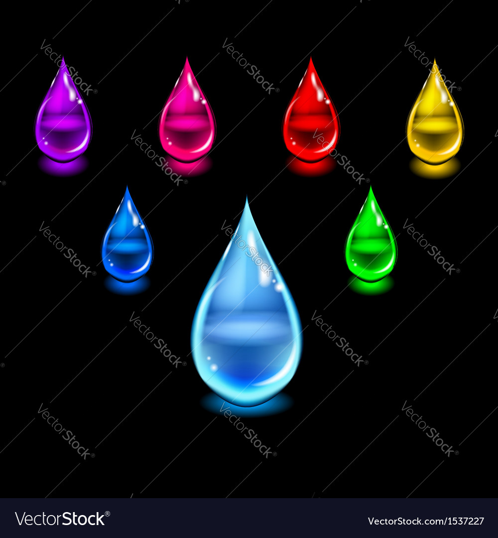 Glossy color drops vector | Price: 1 Credit (USD $1)