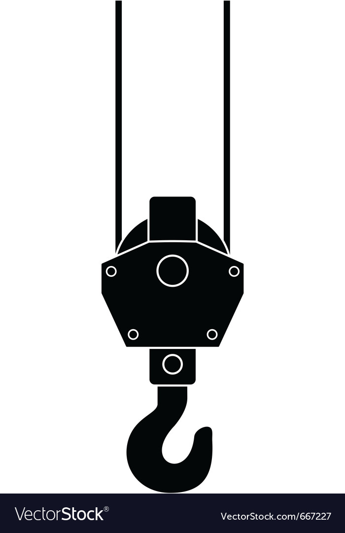 Hook of a crane vector