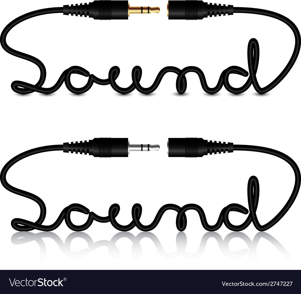 Jack connectors sound calligraphy vector | Price: 1 Credit (USD $1)