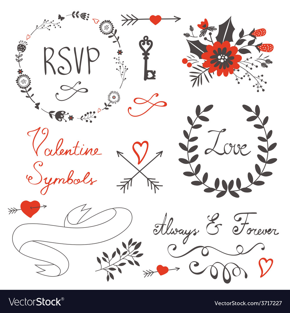 Love set with vector | Price: 1 Credit (USD $1)