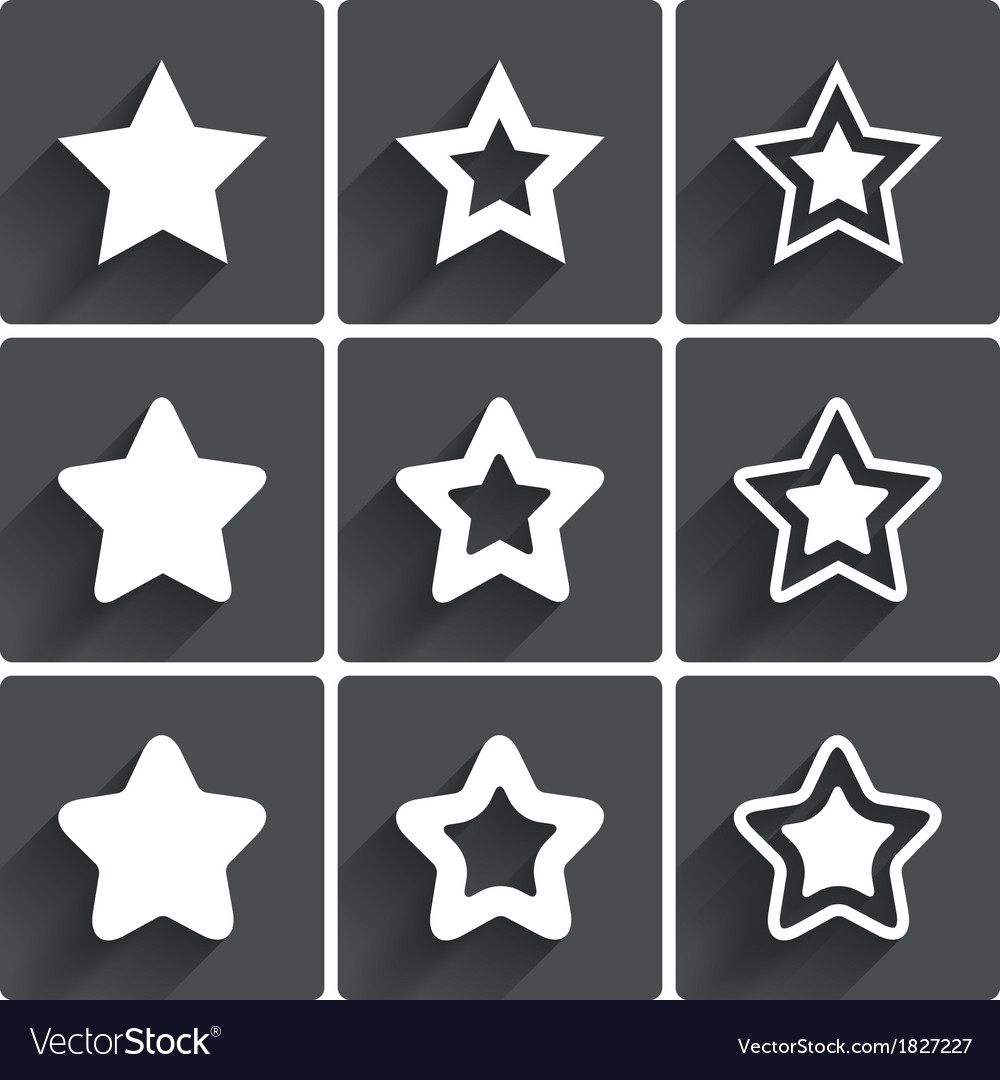 Star icons rating stars symbols feedback rating vector | Price: 1 Credit (USD $1)