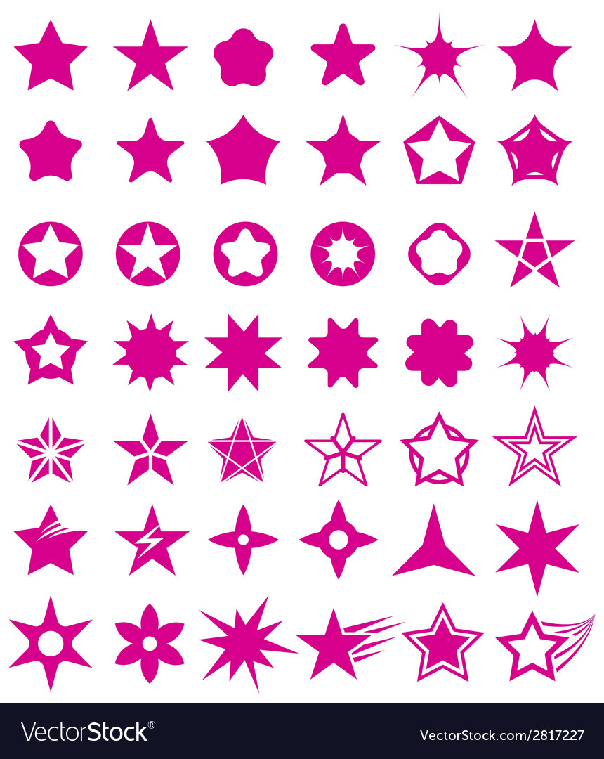 Star shape set vector | Price: 1 Credit (USD $1)