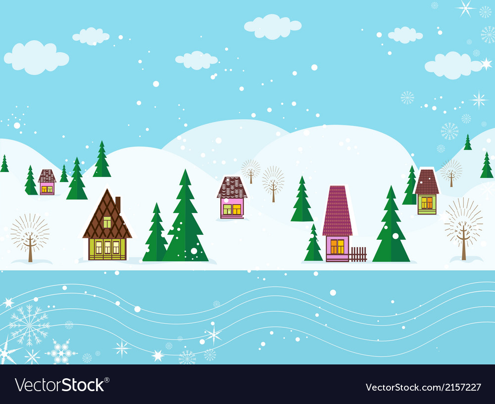Winter fairyland vector | Price: 1 Credit (USD $1)