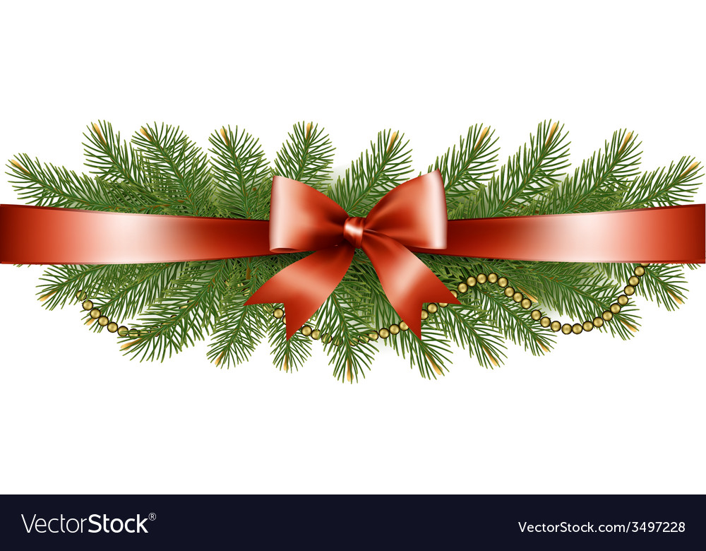 Background with christmas tree branches and a red vector   Price: 3 Credit (USD $3)