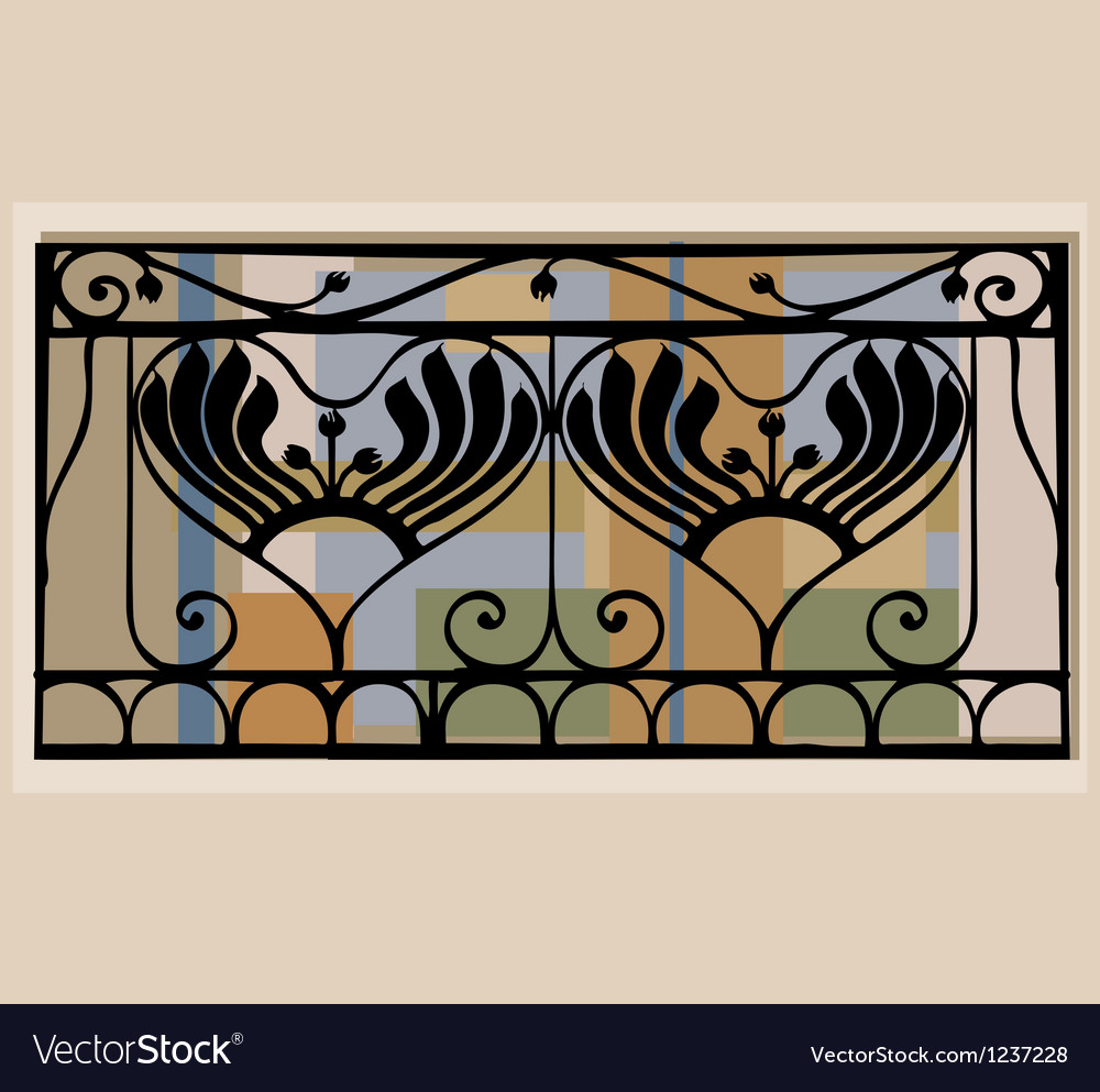 Balcony railings vector | Price: 1 Credit (USD $1)