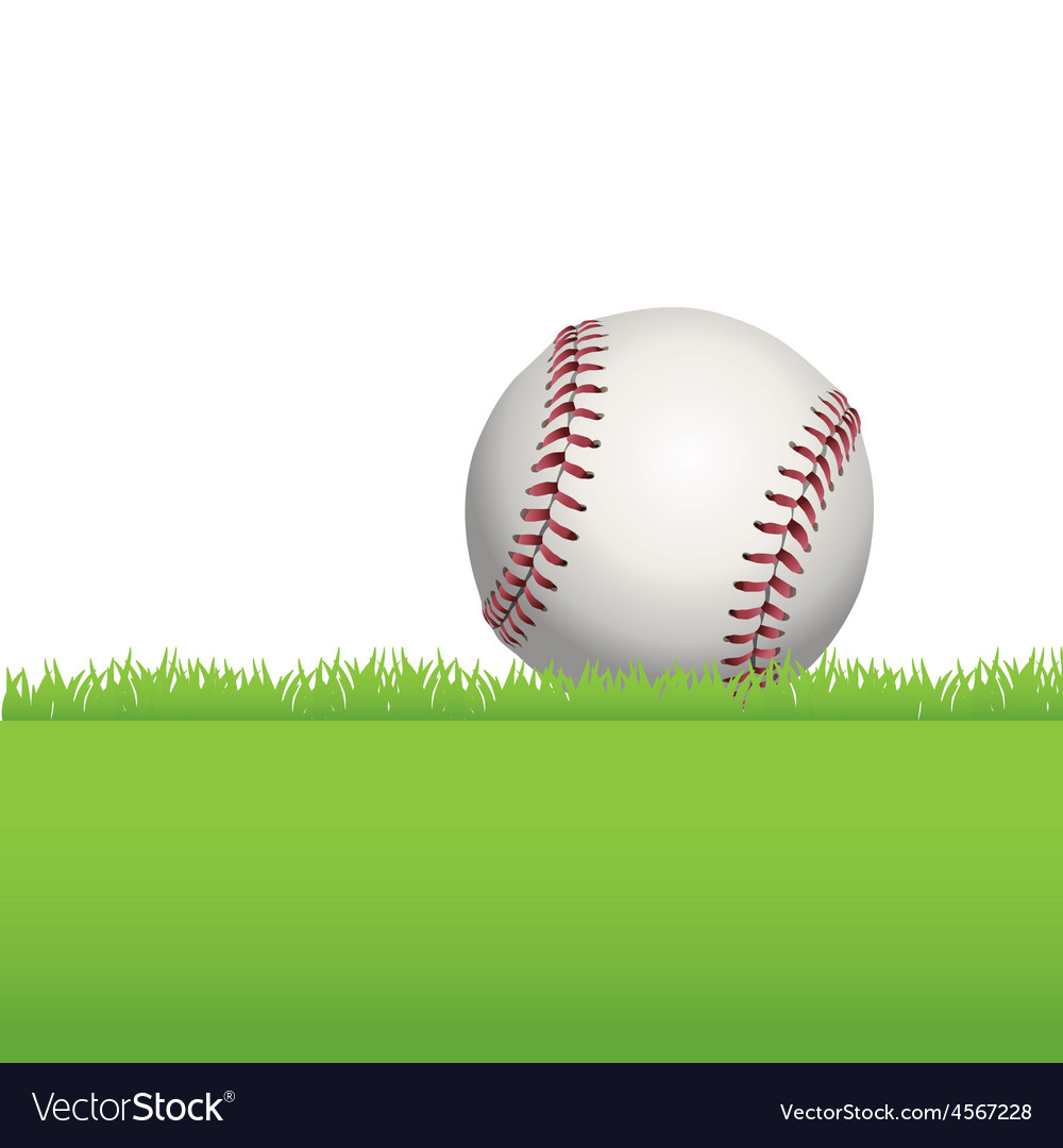 Baseball in the grass vector | Price: 1 Credit (USD $1)
