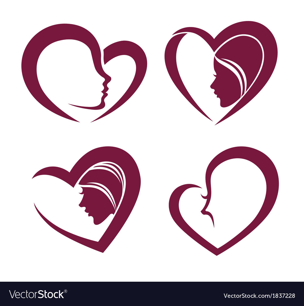 Beauty and hearts vector | Price: 1 Credit (USD $1)