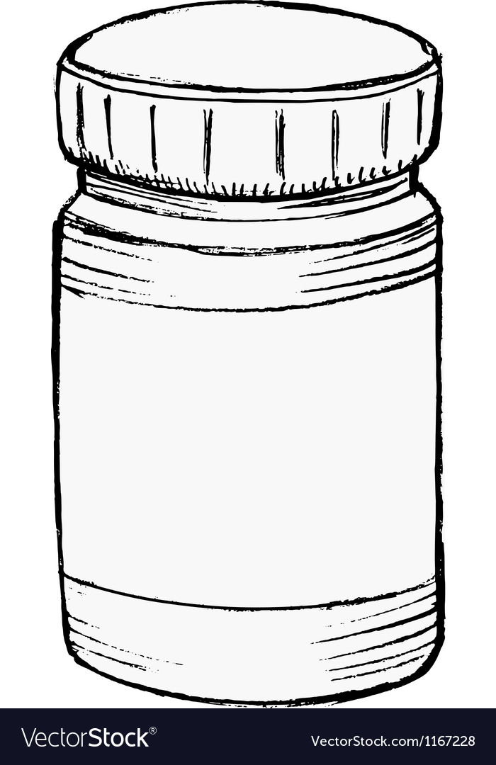 Bottle of medicine vector | Price: 1 Credit (USD $1)