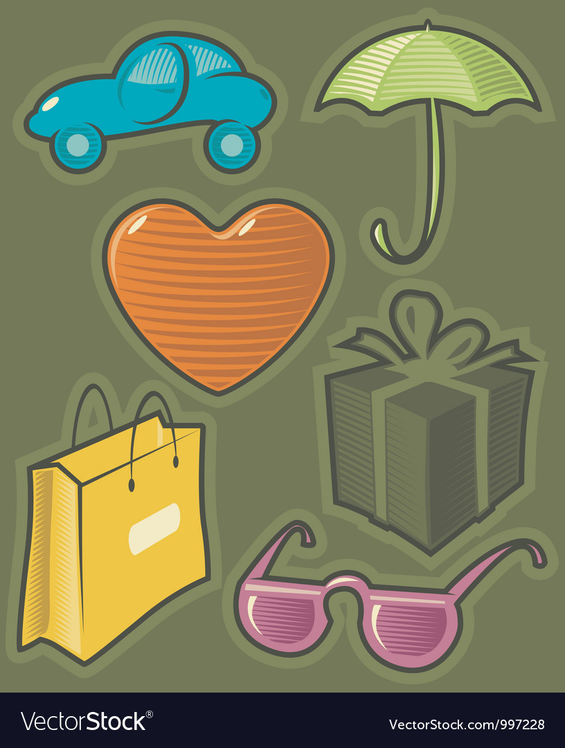 Green icons for shopping vector | Price: 1 Credit (USD $1)