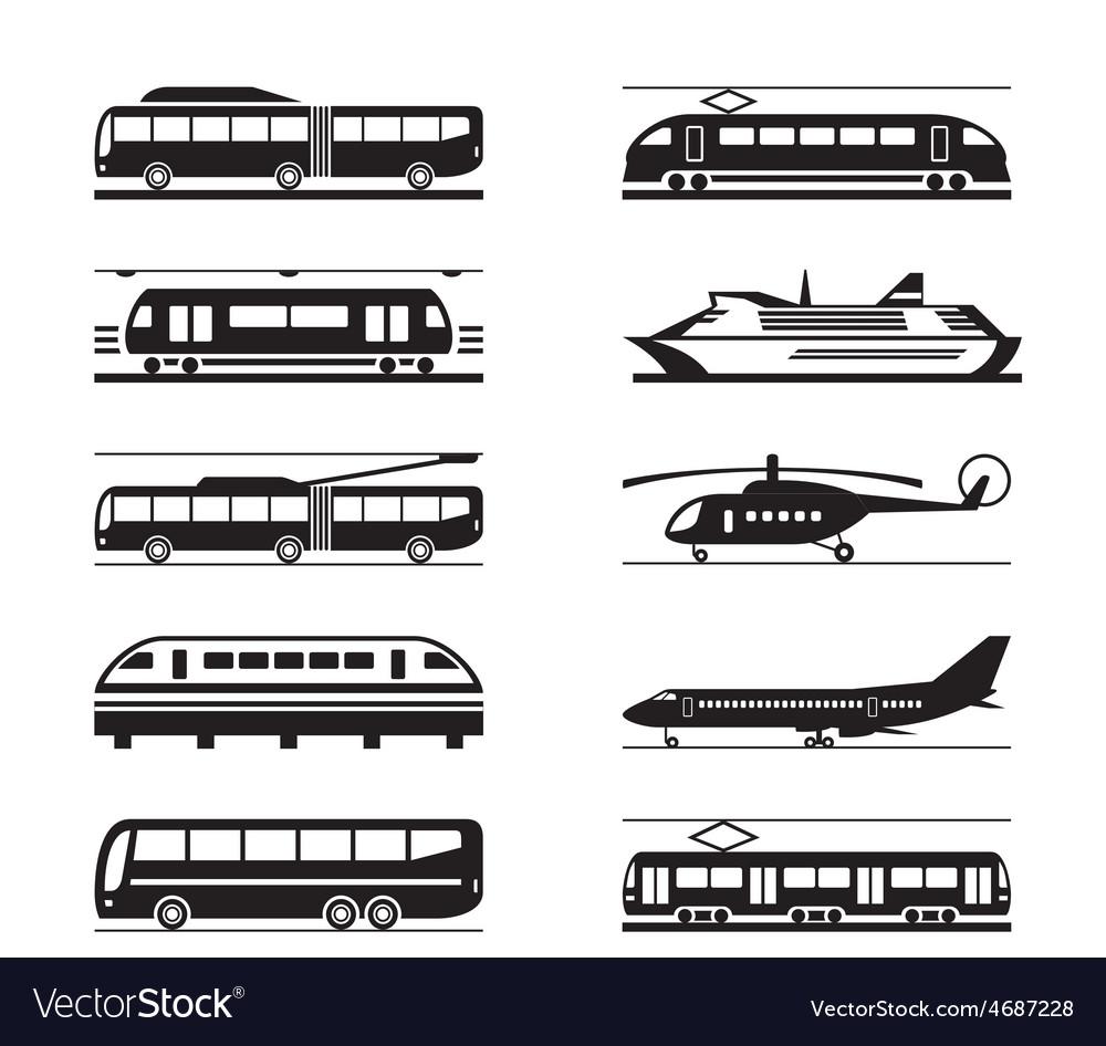 Public transportation icon set vector   Price: 1 Credit (USD $1)