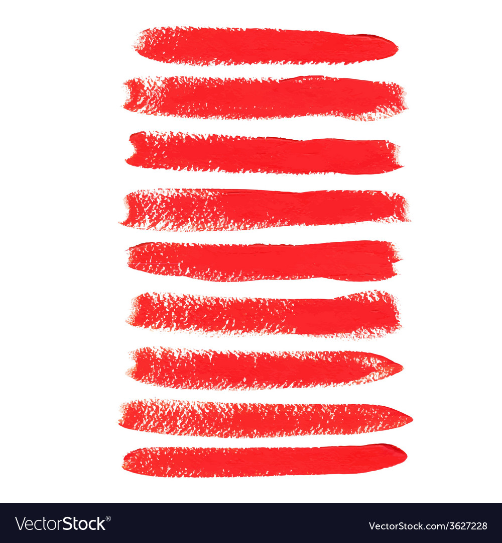 Red acrylic brush strokes vector | Price: 1 Credit (USD $1)