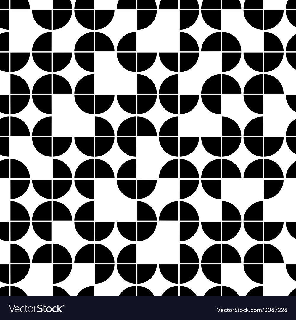 Seamless geometric pattern with monochrome vector | Price: 1 Credit (USD $1)