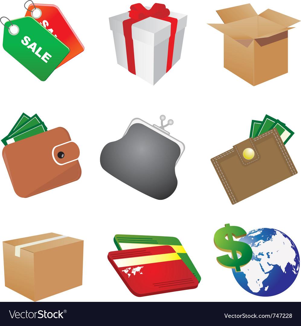 Shop icons vector | Price: 3 Credit (USD $3)