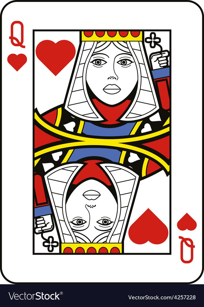 Stylized queen of hearts no card vector | Price: 1 Credit (USD $1)