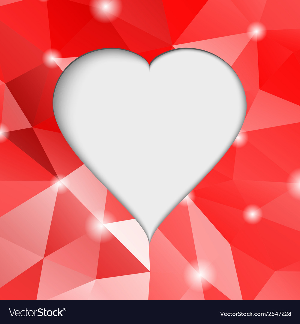 Valentines day modern abstract background with red vector | Price: 1 Credit (USD $1)