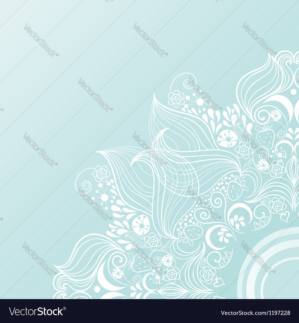 Vintage invitation corners on blue background with vector | Price: 1 Credit (USD $1)