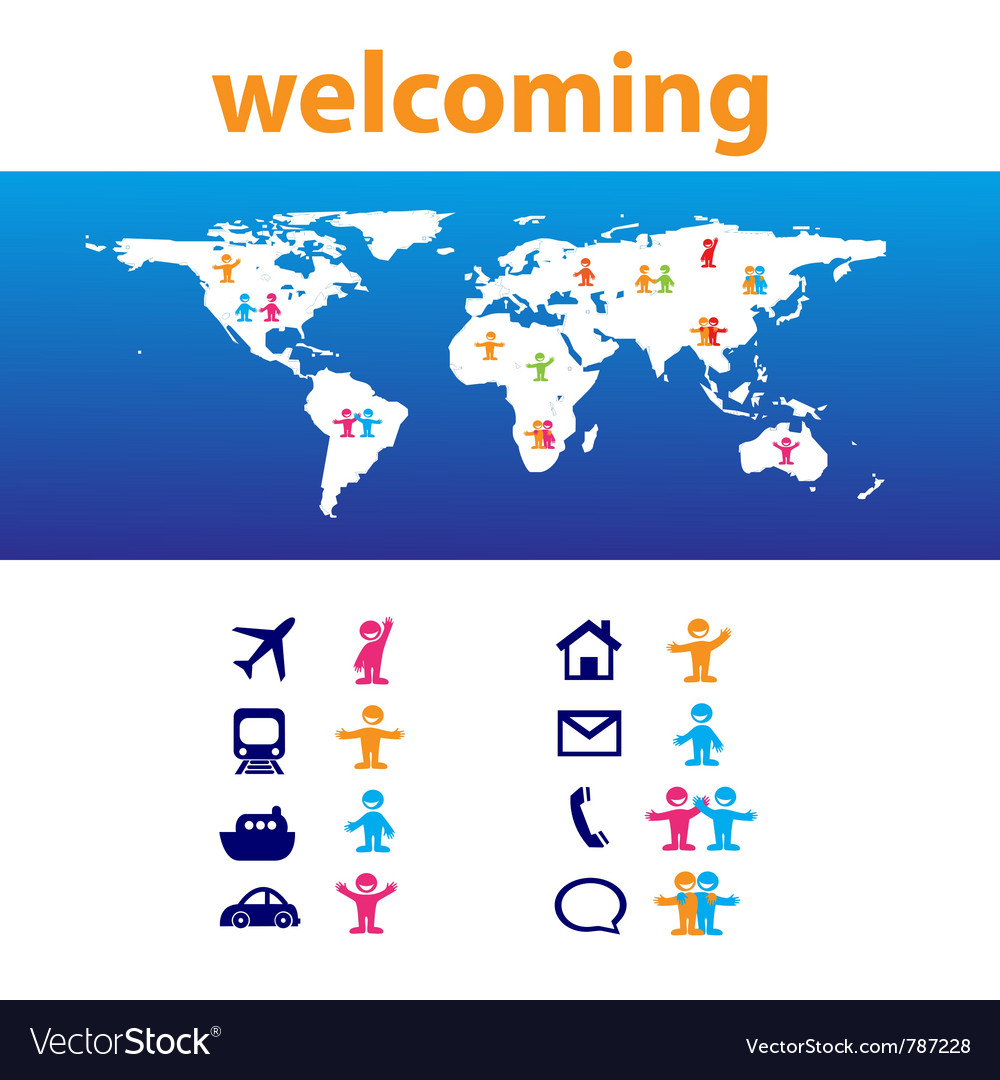 Welcome travel vector | Price: 1 Credit (USD $1)