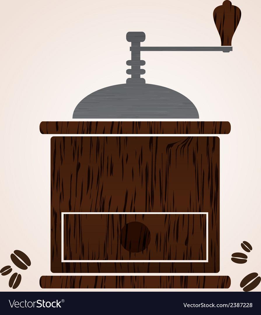 Wooden coffee grinder eps10 vector | Price: 1 Credit (USD $1)