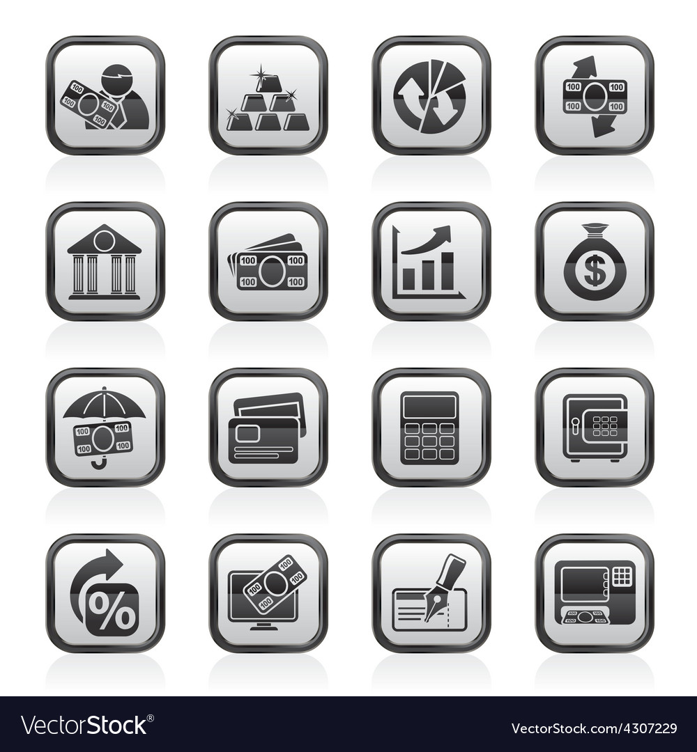 Bank business and finance icons vector | Price: 1 Credit (USD $1)