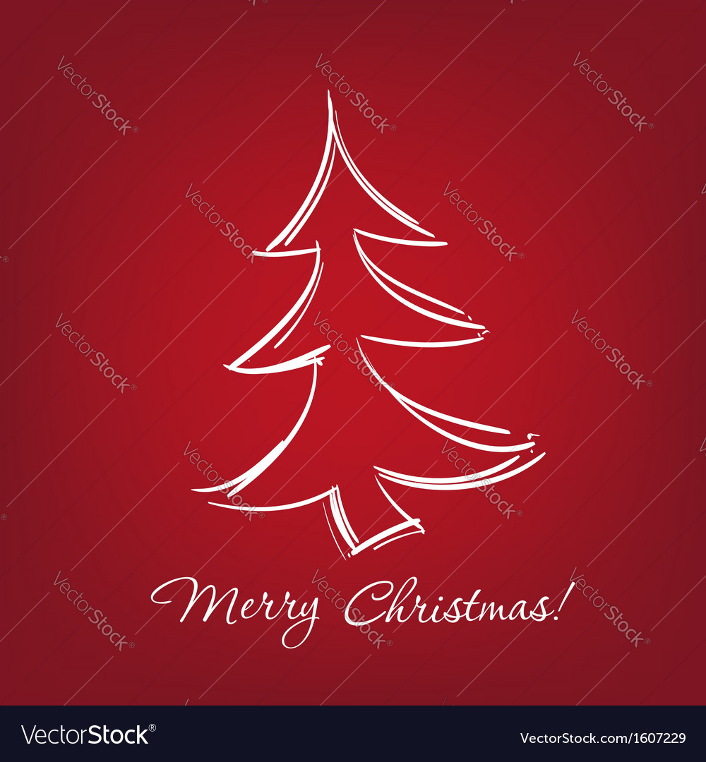 Christmas-tree - hand drawn vector | Price: 1 Credit (USD $1)