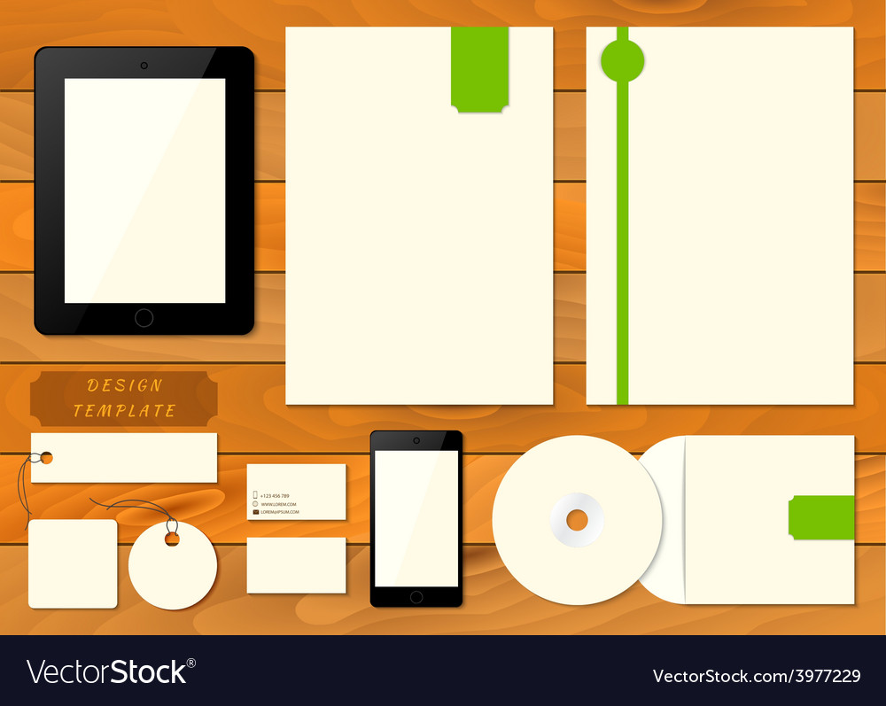 Empty set mockup of corporate identity elements vector | Price: 1 Credit (USD $1)