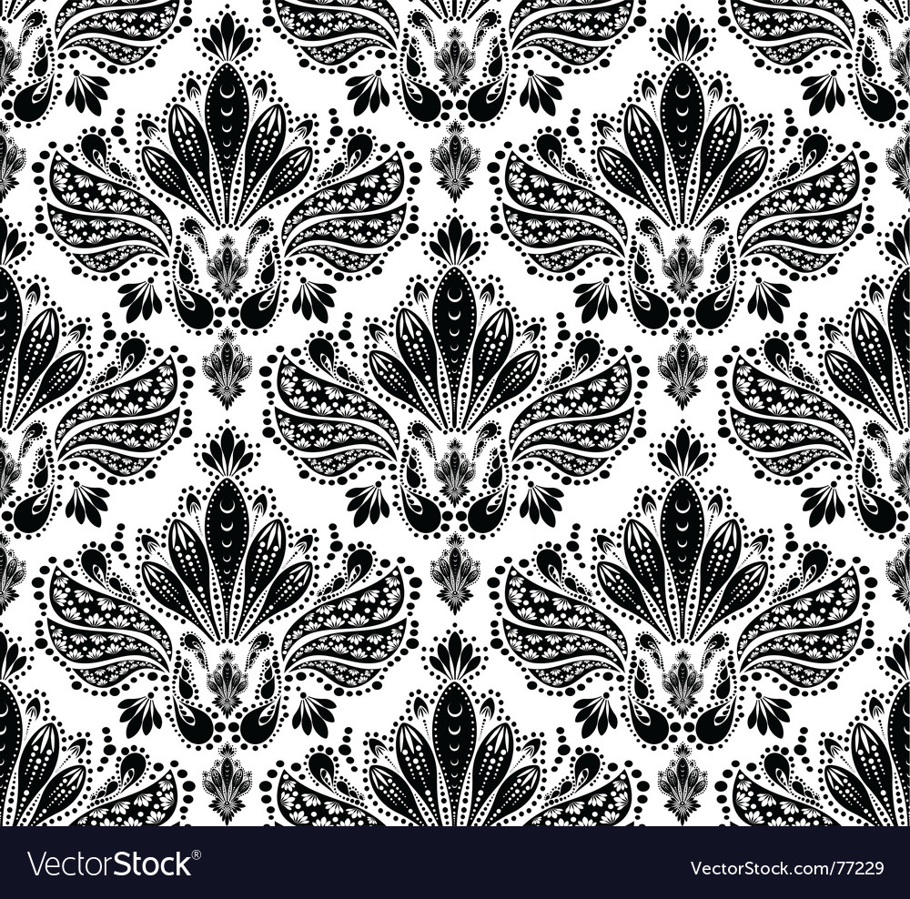 Floral wallpaper vector | Price: 1 Credit (USD $1)