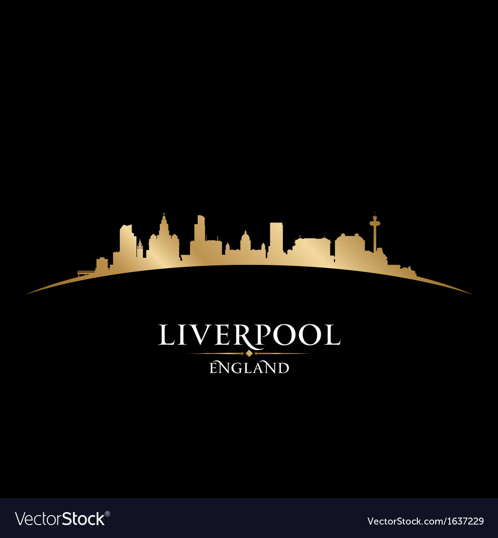 Liverpool england city skyline silhouette vector | Price: 1 Credit (USD $1)