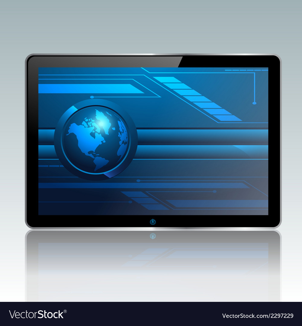 Modern pc tablet vector | Price: 1 Credit (USD $1)