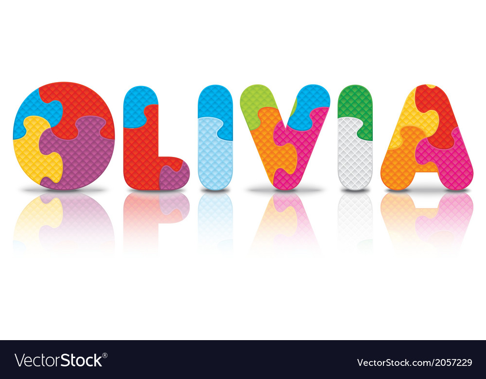 Olivia written with alphabet puzzle vector   Price: 1 Credit (USD $1)
