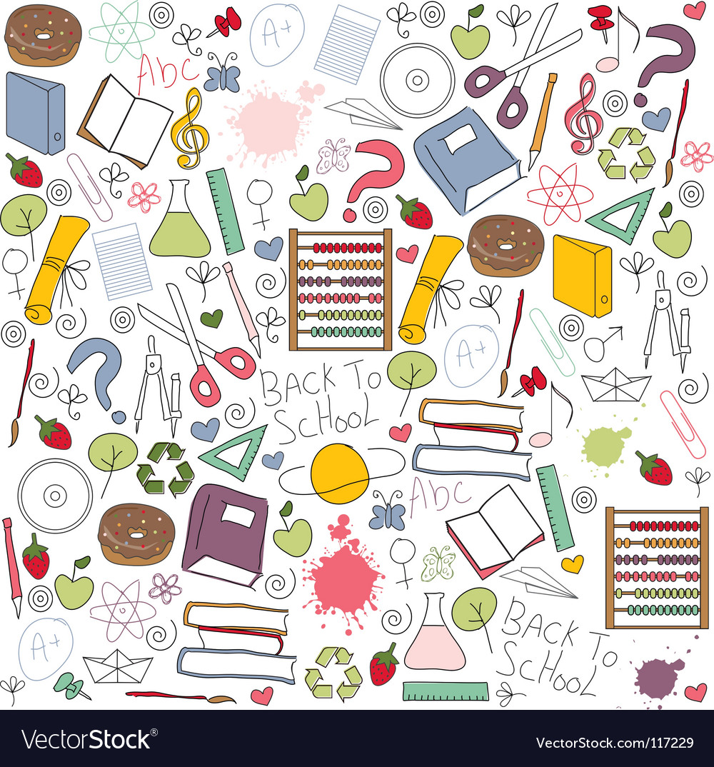 School pattern vector | Price: 3 Credit (USD $3)