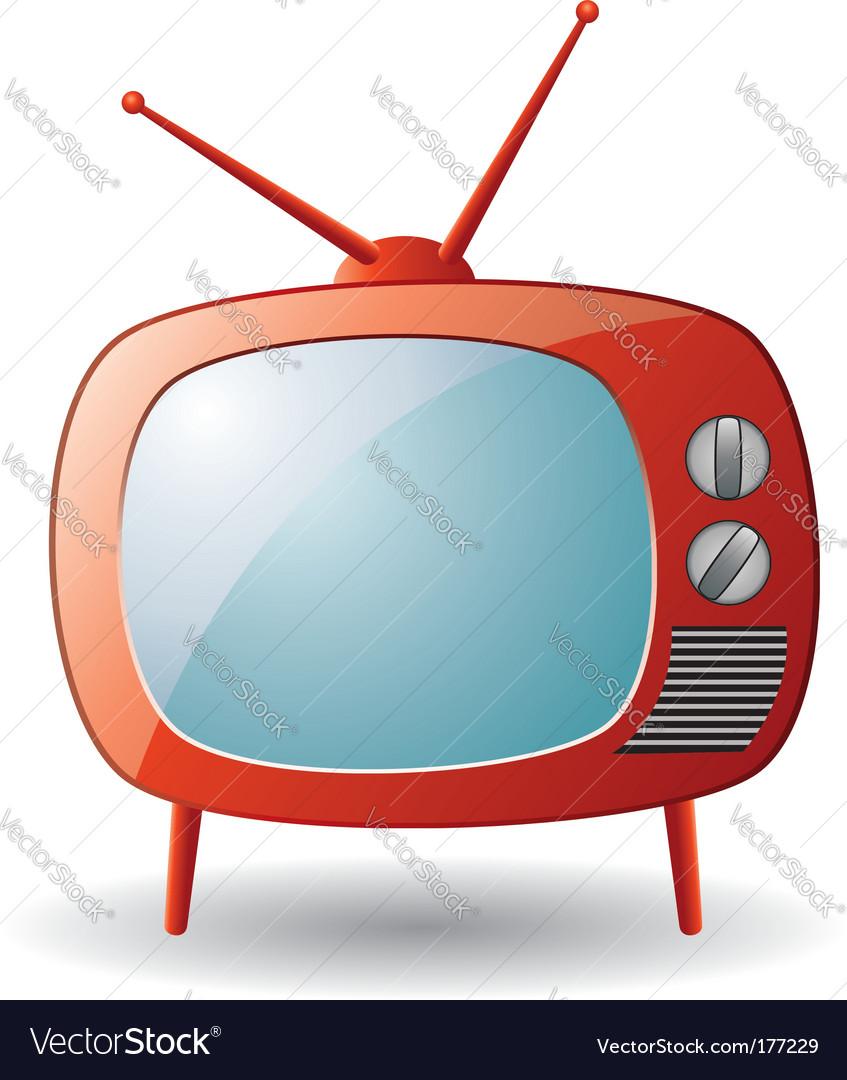 Tv set vector | Price: 1 Credit (USD $1)
