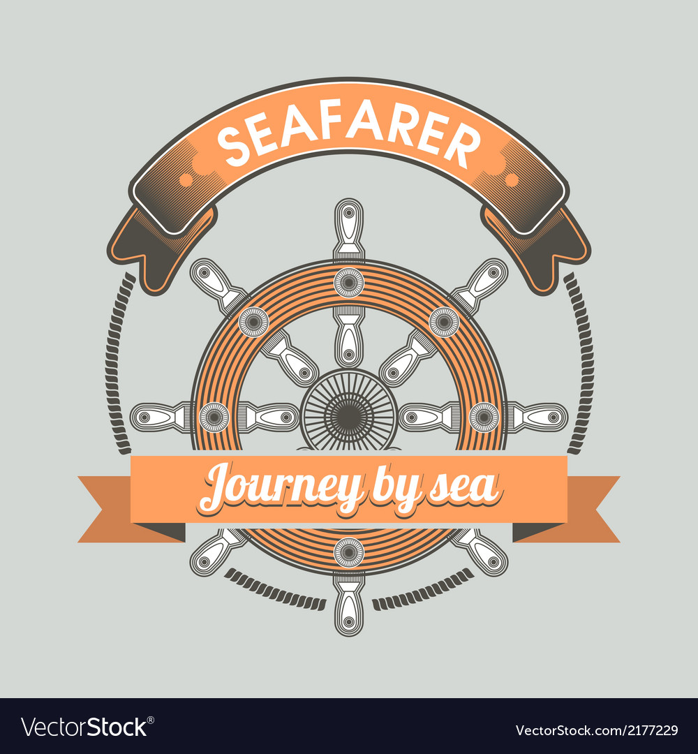 Vintage nautical emblem vector | Price: 1 Credit (USD $1)