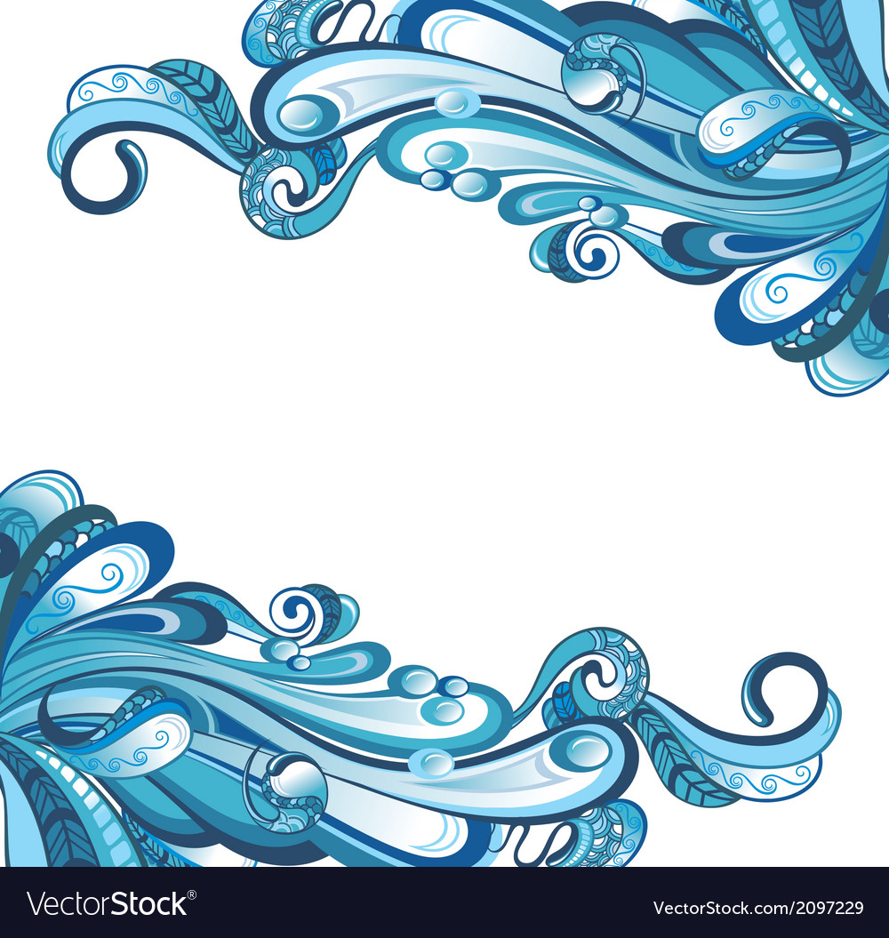 Water card vector | Price: 1 Credit (USD $1)