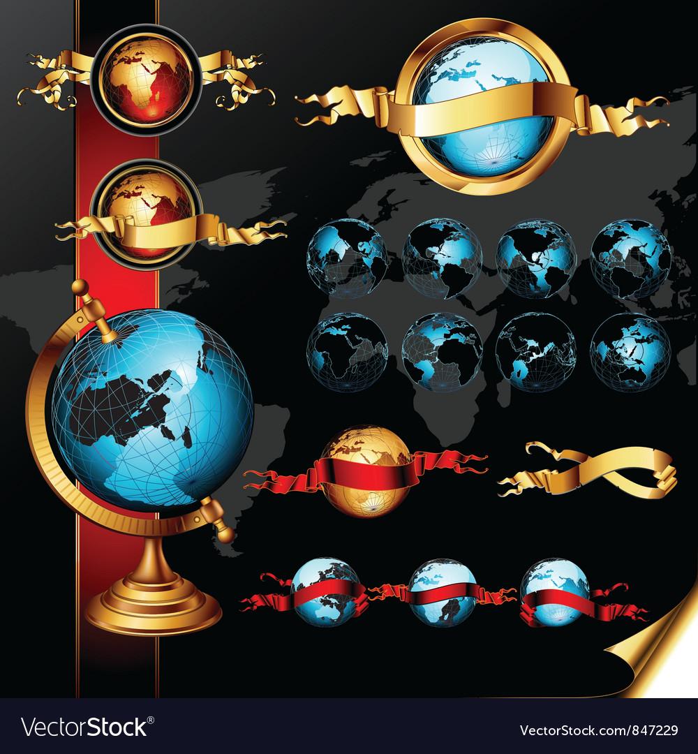 World frames set vector | Price: 3 Credit (USD $3)